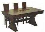 תמונה של  פינת אוכל מושלמת שולחן עם ששה כסאות דגם מגן דוד