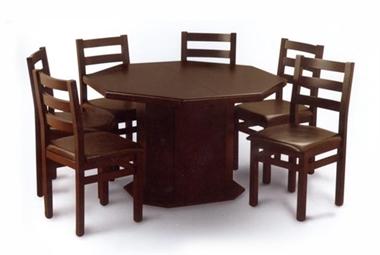 תמונה של פינת אוכל מתומן פלוס 6 כסאות דגם תמנון