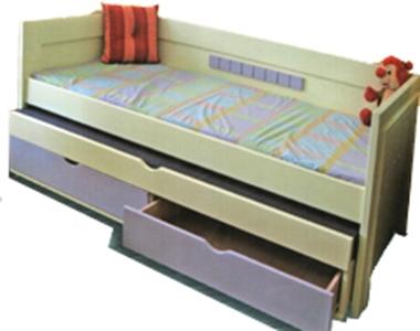 מיטות: מיטת ילדים ונוער פלוס מיטה נוספת  דגם רומא