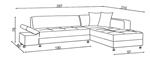 תמונה של סלונים פינתיים: מערכת סלונית נפתחת למיטה זוגית