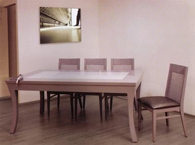 """תמונה של שולחן לפינת אוכל עץ מלא ומאסיבי דגם """"קרן"""""""