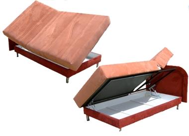 מיטות: מיטה וחצי חשמלית דגם ספייס פתיחת צד