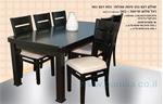 תמונה של פינת אוכל יוקרתית שולחן + 6 כסאות דגם 333