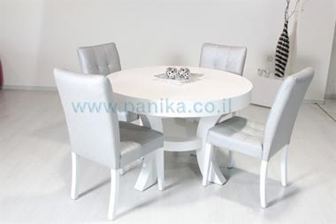 תמונה של שולחן עגול מדהים דגם אביר לבן עכשיו במבצע