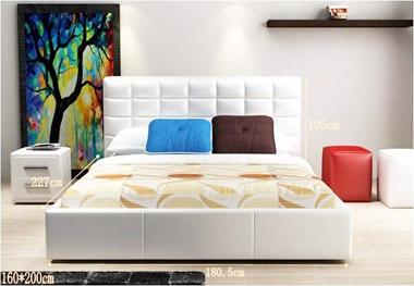 תמונה של מיטות: מיטה זוגית בעיצוב איטלקי מעור דגם שליו