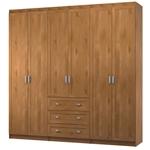 תמונה של ארונות בגדים: ארון בגדים 6 דלתות 3 מגירות דגם ליאני