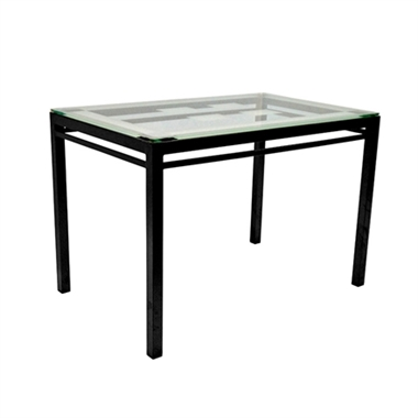 תמונה של שולנות: שולחן פינת אוכלת מזכוכית דגם אנה