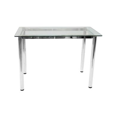 תמונה של שולחנות: שולחן פינת אוכלת מזכוכית דגם לימור