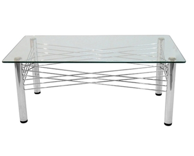 תמונה של שולחנות: שולחן סלוני מזכוכית דגם רעם