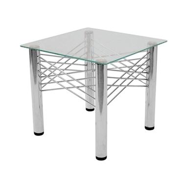 שולחנות: שולחן סלוני מזכוכית דגם רעם פינתי