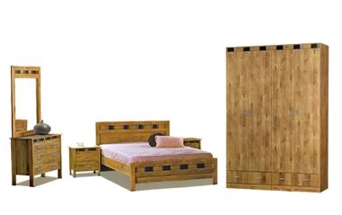 חדרי שינה: חדר שינה בסגנון כפרי דגם חץ