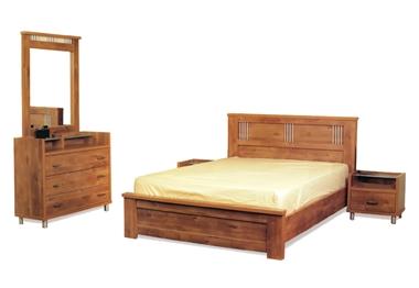 חדרי שינה: חדר שינה קומפלט דגם ניוטון 3