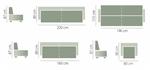 תמונה של מערכות ישיבה: סלון 3+2 מרהיב ביופיו דגם סחראזט