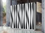 תמונה של ארונות הזזה: ארון הזזה 2 דלתות מרהיב ביופיו דגם איריס שחור לבן