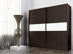 תמונה של  ארונות הזזה: ארון הזזה 2 דלתות מרהיב ביופיו דגם מרבלה לבן