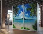 תמונה של  ארונות הזזה: ארון הזזה 2 דלתות מרהיב ביופיו דגם הוואי