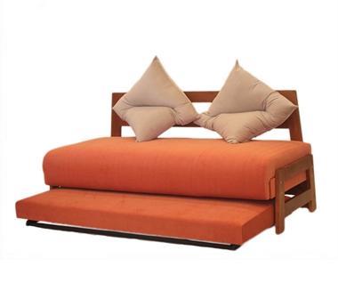 מיטות: ספת נוער + מיטה נגררת על קל דגם לאהור