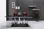 תמונה של פינות אוכל: שולחן פינת אוכל נפתח זכוכית מפואר דגם פירנצה