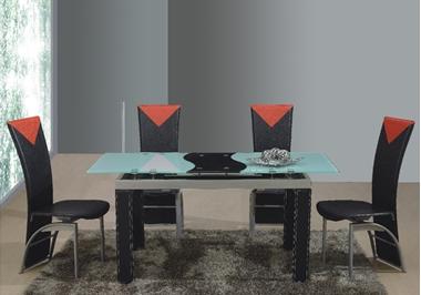 פינות אוכל: שולחן פינת אוכל זכוכית נפתח דגם לוזאן