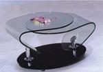 תמונה של מזנונים ושולחנות טלוויזיה: שולחן סלון זכוכית מרהיב ביופיו דגם גומליה