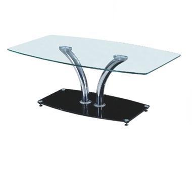 מזנונים ושולחנות טלוויזיה: שולחן סלון זכוכית מרהיב ביופיו דגם ניר