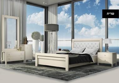 חדרי שינה: חדר שינה זוגי, מלא, במחיר מעולה דגם מדריד