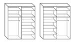 תמונה של ארונות הזזה: ארון הזזה 2 דלתות דגם אמיי 120סמ במבצע