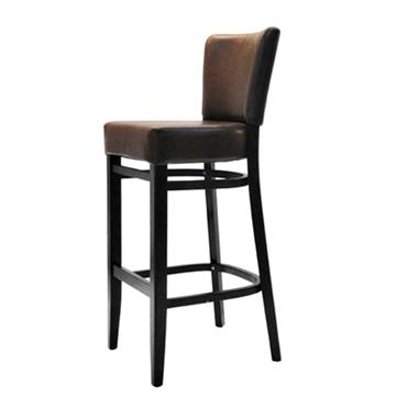 תמונה של כסאות בר: כסא בר עץ מרופד איכותי דגם דינה