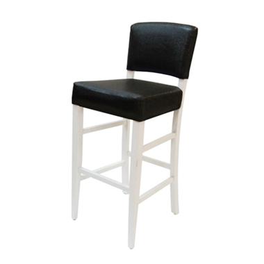 כיסאות בר: כיסא בר עץ מלא מרופד דגם פיני