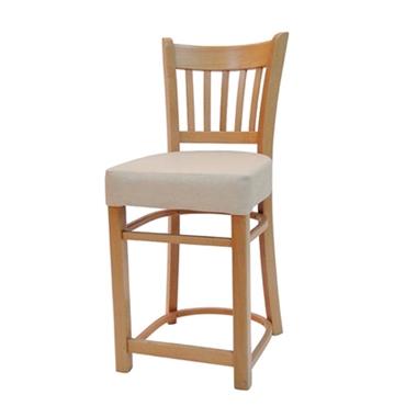 תמונה של כסאות בר: כסא בר עץ  ריפוד עבה דגם אריה