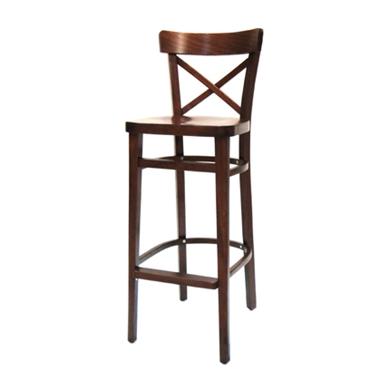 כיסאות בר: כיסא בר כולו עץ  דגם אירנה