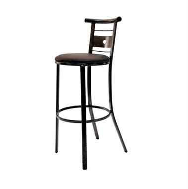 כסאות בר: כסא בר מתכת שחורה דגם סמי