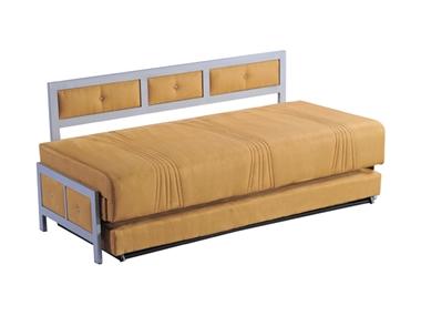 מיטות: ספת נוער + מיטה נגררת על קל דגם נמרוד