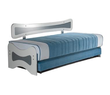 מיטות: ספת נוער + מיטה נגררת על קל דגם יונתן