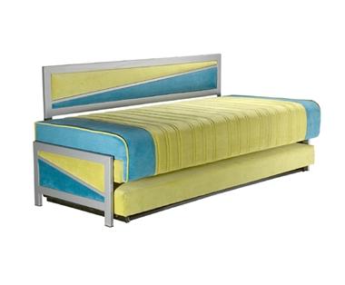 מיטות: ספת נוער + מיטה נגררת על קל דגם קובי