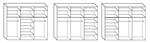 תמונה של ארונות הזזה: ארון הזזה 3 דלתות דגם אמי 220 במבצע