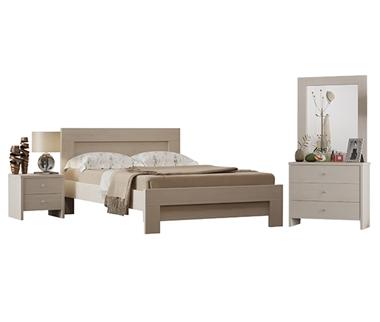 חדרי שינה: חדר שינה זוגי מרהיב ביופיו דגם חול