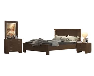 חדרי שינה: חדר שינה זוגי מרהיב ביופיו דגם פיסטוק
