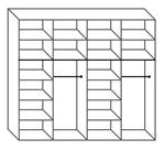 תמונה של  ארונות הזזה: ארון הזזה 2 דלתות מרהיב ביופיו דגם מרבלה שחור