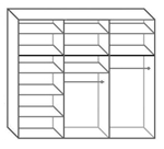 תמונה של  ארונות הזזה: ארון הזזה 3 דלתות מרהיב ביופיו דגם  אוניקס תאנה