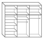 תמונה של  ארונות הזזה: ארון הזזה 3 דלתות מרהיב ביופיו דגם  סן רמו