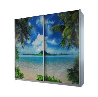 ארונות הזזה: ארון הזזה 2 דלתות מרהיב ביופיו דגם הוואי