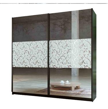 ארונות הזזה: ארון הזזה 2 דלתות מרהיב ביופיו דגם יהלום