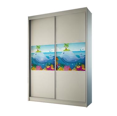 ארונות הזזה: ארון הזזה 2 דלתות מרהיב ביופיו דגם טוקיו דולפין