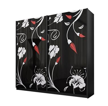 ארונות הזזה: ארון הזזה 2 דלתות מרהיב ביופיו דגם לוטוס