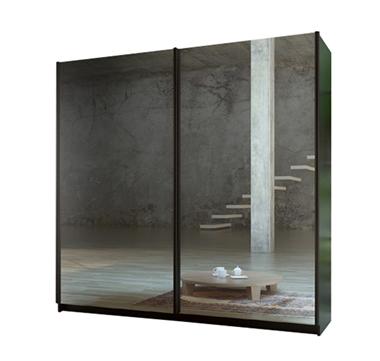 תמונה של  ארונות הזזה: ארון הזזה 2 דלתות מרהיב ביופיו דגם מדריד מראות