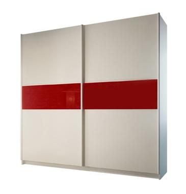 ארונות הזזה: ארון הזזה 2 דלתות מרהיב ביופיו דגם מרבלה אדום