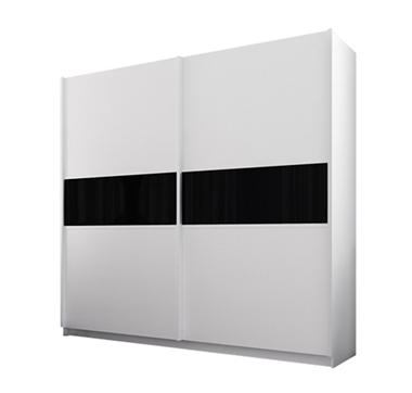 ארונות הזזה: ארון הזזה 2 דלתות מרהיב ביופיו דגם מרבלה שחור