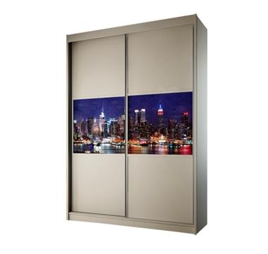 תמונה של  ארונות הזזה: ארון הזזה 2 דלתות מרהיב ביופיו דגם ניו יורק