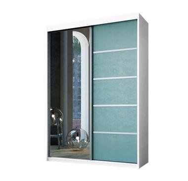 תמונה של  ארונות הזזה: ארון הזזה 2 דלתות מרהיב ביופיו דגם ניס ירקרק